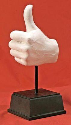 modern sculptures of hands | Thumbs Up Hand Sculpture