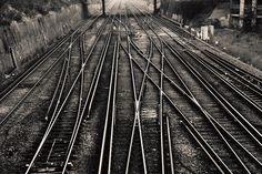 Train tracks near East Croydon station