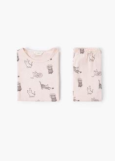 Printed pyjamas -  Kids   MANGO Kids USA