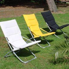 fauteuil de jardin pliable en acier et textilne relax - Fauteuil Relax Jardin Pliable
