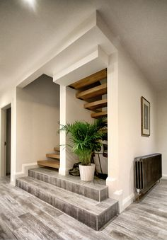 Home Stairs Design, Home Room Design, Home Interior Design, Stair Design, 3 Storey House Design, House Front Design, Model House Plan, Modern Staircase, House Stairs