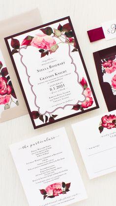 Blog serius serius kreatif rekaan kad jemputan kahwin yang burgundy rose wedding invitations stopboris Image collections