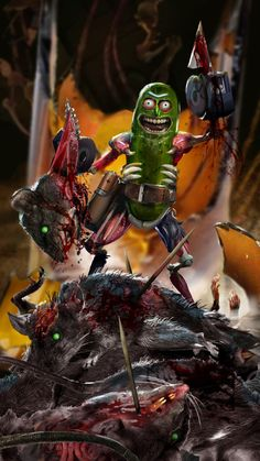 Pickle Rick! by uncannyknack.deviantart.com on @DeviantArt