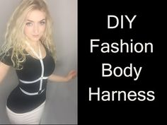 54e27dcdd9bf7 DIY Fashion Body Harness - YouTube Diy Body Chain