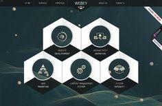 50 Awesome Websites with Extraordinary Geometry Elements #webdesignideas Website Layout, Web Layout, Layout Design, Design Web, Graphic Design, Brand Design, Flat Design, Flat Website, Ui Website