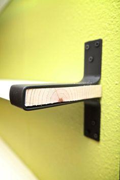 Custom Wrap Around Steel Shelf Brackets: