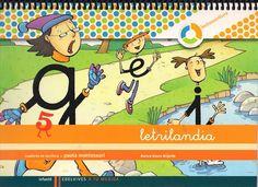 """Recursos didácticos para imprimir, ver, leer: """"Letrilandia"""". Cuaderno de Escritura 5."""