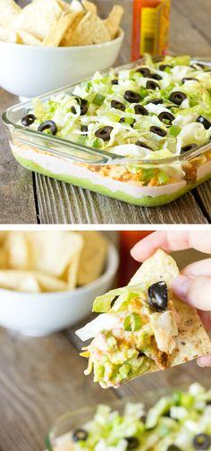 7 Layer Chicken Taco Dip