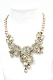 Desiree statement haute couture bridal necklace by Dori Csengeri