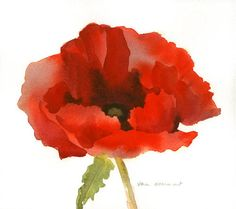 "Remembrance Day is observed on 11 November to recall the end of hostilities of World War I on that date in Hostilities formally ended ""at the hour of the day of the month,"" The red remembrance poppy has become a familiar emblem. Watercolor Poppies, Red Poppies, Watercolor Paintings, Red Poppy Tattoo, Remembrance Poppy, Poppies Tattoo, Time Tattoos, Tatoos, Future Tattoos"
