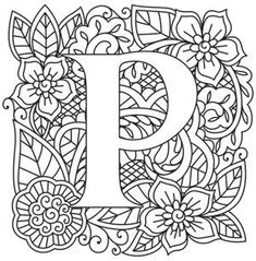 Embroidery Letters Patterns Transfer Paper 70 Ideas For 2019 Colouring Pages, Printable Coloring Pages, Adult Coloring Pages, Coloring Books, Coloring Sheets, Alphabet Design, Alphabet Art, Letter Art, Embroidery Letters