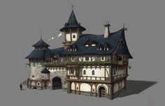 ArtStation - Medieval house , yeonji Rhee