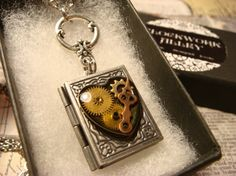Steampunk Style Heart with Watch parts and Gears by ClockworkAlley