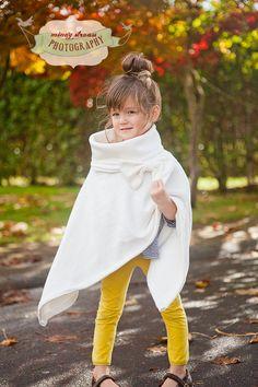 My sweet girl modeling the Helen Cape pdf Pattern 12 months through Girls 14. $7.00, via Etsy.