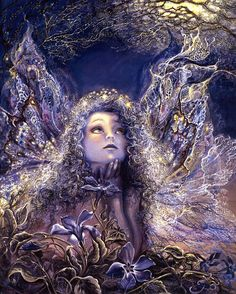 Artist: Josephine Wall Blue thou art, intensely blue; Flower, whence came thy dazzling hue?  ~James Montgomery