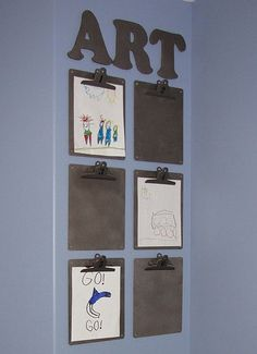 If you teach elementary, kids are always making pictures for you.  But what do you do with them all?  By adding them to a clipboard, you can display the most recent and still be able to look through pictures from the past. Idea from Clean & Scentsible blog. classroom-management-ideas