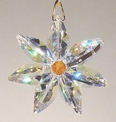 Aurora Borealis Crystal Daisy with Austrian Crystal