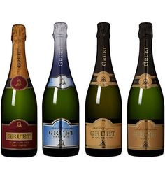 Gruet Spectacular Sparkling Pairings Mix Pack, 4 x 750 mL at Amazon's Wine Store