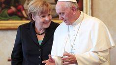 Merkel zu Privataudienz im Vatikan: Papst empfängt Mutti