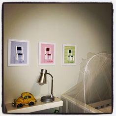 Quadrinhos montados por mim para quarto de bebê #bycristinazaiden #interiores