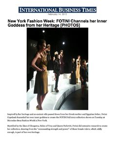 Fotini in International Business Times!