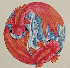 Creativity of Fià: Pescetti ad acquerello