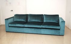 silk velvet couch, i could nap on this!
