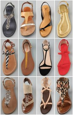 I love strappy flat sandals! Can't wait for summer time! Cute Sandals, Strappy Sandals, Flat Sandals, Leather Sandals, Shoes Sandals, Sock Shoes, Ugg Shoes, Shoe Boots, Shoe Bag