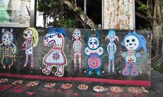 """Photos by Steven R. Barringer. Steven R. Barringer about Rainbow Family Village: """"A beautiful and colorful small village in Taichung, Taiwan where almost everything in site is painted joyful …"""