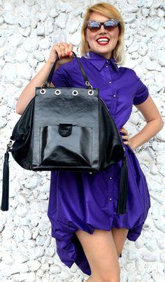 Leather Black Tote with Fringes Genuine Leather Handbag with https://www.etsy.com/listing/521028685/leather-black-tote-with-fringes-genuine?utm_campaign=crowdfire&utm_content=crowdfire&utm_medium=social&utm_source=pinterest