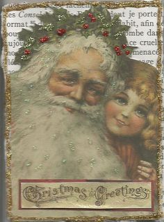 Santa on bookpage ATC - Scrapbook.com