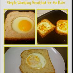 Simple Before school breakfast for the kids. 5 minutes, 2 ingredients. Eat in the car!