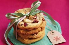 Don't confine cranberries to the sauce this season, we think putting them in a cookie is a much better use for them. With sweet and creamy white chocolate, these biscuits have a lovely sweet/sour balance. They make the perfect treat for Christmas day with their red and white colouring and are easily turned into a gift with a little bit of ribbon and a handmade gift tag. Get the recipe: White chocolate and cranberry cookies