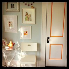 orange washi tape accent