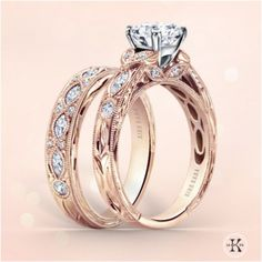 Luxury rose gold engagement ring vintage for your perfect wedding (93)