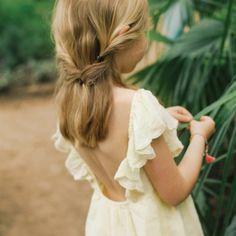 Robe Volants Celine Jaune pâle  Louise Misha