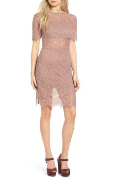 Leith Lace Sheath Dress available at #Nordstrom