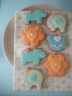 Noah's Ark themed cookies