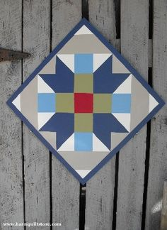 Farmer's Daughter Pattern Barn Quilt/love the color pallet cjm Barn Quilt Designs, Barn Quilt Patterns, Quilting Designs, Art Patterns, Painted Barn Quilts, Painted Wood, Barn Signs, Barn Art, American Quilt