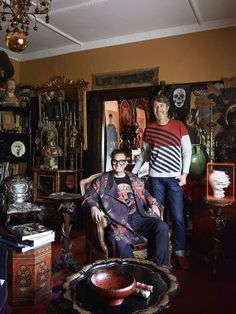 Artist Gavin Brown and his partner interior designer Peter Curnow in their incredible St. Kilda home.