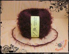 1 gomitolo 50 grammi, colore prugna filato moda di Fancy yarns su DaWanda.com