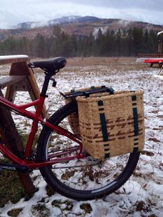 Bicycle Basket pannier saddle bags by JChoateBasketry on Etsy, $85.00