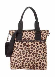 """Product # 2BH-190E (Tailored Tote - Cheetah)Big on style! Surprisingly roomy bag is large enough for most laptops, but the sleek silhouette gives it a great fashion look for every day. Two open front pockets, double handles with 8"""" drop, removable, adjustable shoulder strap (12"""" - 24""""L) provides versatility. Single initial and 3 character limit. Price: $52.00 #ohbaglady #growl"""