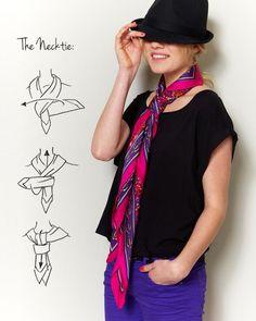 ways to wear a scarf #3