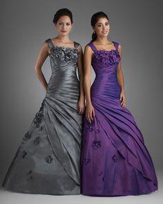 Pleated Shoulder Straps Taffeta A Line Gown Bridesmaid Dresses, Prom Dresses, Formal Dresses, Wedding Dresses, Bridesmaids, Bonny Bridal, Mad Men Fashion, Pleated Bodice, A Line Gown