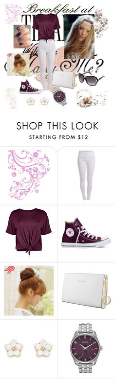 """#purple_white_set"" by leky-2001 ❤ liked on Polyvore featuring Edition, Pieces, Boohoo, Converse, Pin Show, Trussardi, Accessorize, Nixon and Gucci"
