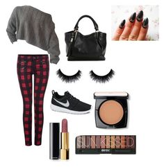 """""""i made it up"""" by chanaderw on Polyvore featuring Dex, NIKE, Chanel and Lancôme"""
