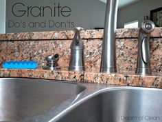 How to Clean Granite...there are definitely do's and don'ts! #granite #cleaning #spring