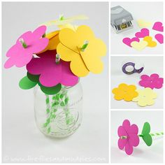 Paper Straw Flowers   Fireflies and Mud Pies