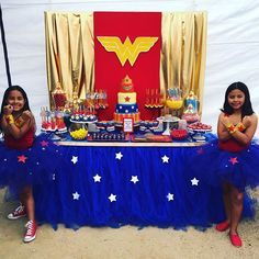 Wonder Woman Candy Dessert Table by @bizziebeecreations. Inspiration for the Wonder Woman backdrop came from @catchmyparty. The amazing cake and candy apples were from @highdessertcakeboss #wonderwoman #wonderwomanparty #candybuffet #candybooth #candystation #candydesserttable #events #parties #kidsparty #superheroparty #events #torrance #losangeles #beverlyhills #redondobeach #carson #eastla #cakepops #dippedoreos #wonderwomancake #catchmyparty
